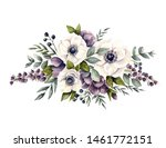 watercolor floral composition...   Shutterstock . vector #1461772151