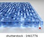 glass labyrinth - stock photo