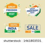 indian indepandance day freedom ... | Shutterstock .eps vector #1461803531
