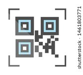 qr code for product icon. flat... | Shutterstock .eps vector #1461803771