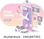 vector online travel planning...   Shutterstock .eps vector #1461847301
