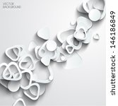 abstract 3d paper infographics | Shutterstock .eps vector #146186849