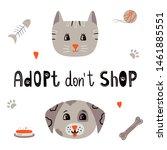 pet adoption   vector... | Shutterstock .eps vector #1461885551