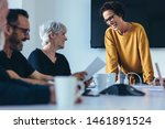 group of businesspeople smiling ... | Shutterstock . vector #1461891524