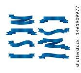 blue ribbons set. vector ribbon ... | Shutterstock .eps vector #1461909977
