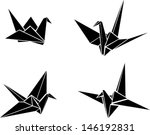 origami paper cranes | Shutterstock .eps vector #146192831