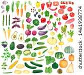 different colorful vegetables... | Shutterstock . vector #1461938774