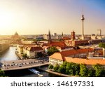 Stock photo skyline of berlin in sunset 146197331