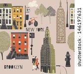 Brooklyn Seamless Pattern