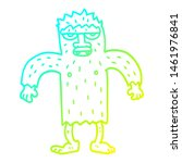 Stock photo cold gradient line drawing of a cartoon bigfoot creature 1461976841