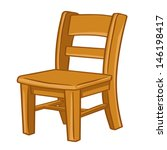 wood chair isolated... | Shutterstock .eps vector #146198417