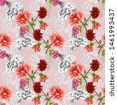 seamless pattern on pink... | Shutterstock . vector #1461993437
