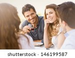 group of happy young friends... | Shutterstock . vector #146199587