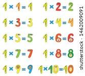 multiplication table of funny... | Shutterstock .eps vector #1462009091