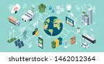 innovative green technologies ... | Shutterstock .eps vector #1462012364