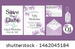 wedding floral template... | Shutterstock .eps vector #1462045184