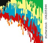 paint colorful dripping...   Shutterstock .eps vector #146205344