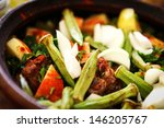 a mutton stew with mixed... | Shutterstock . vector #146205767