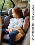 adorable little girl sitting... | Shutterstock . vector #146206229