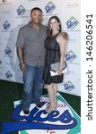 Small photo of NEW YORK - JULY 14: New York Mets Marlon Byrd and wife Andrea Byrd attend the Aces, Inc. All Star party at Marquee on July 14, 2013 in New York City.