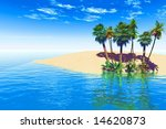 tropical island | Shutterstock . vector #14620873
