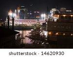 Cincinnati Ohio At Night, Reds vs Cubs, From Newport Kentucky