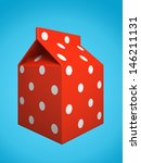red milk box isolated on blue... | Shutterstock . vector #146211131