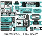 vector set  tickets in...   Shutterstock .eps vector #146212739