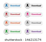 download buttons | Shutterstock .eps vector #146213174