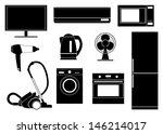household appliances | Shutterstock .eps vector #146214017