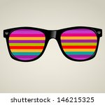 sunglasses abstract vector... | Shutterstock .eps vector #146215325