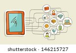 social networks diagram with... | Shutterstock . vector #146215727
