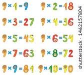 multiplication table of funny... | Shutterstock .eps vector #1462157804