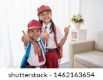 two primary student wearing...   Shutterstock . vector #1462163654