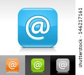 e mail icon. blue  orange ...