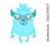 Stock photo cartoon happy bigfoot cute excited monster illustration for halloween 1462193927