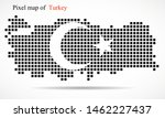 pixel map of turkey with the... | Shutterstock .eps vector #1462227437
