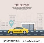 taxi service template on... | Shutterstock .eps vector #1462228124