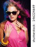 sensual retro 80s fashion disco ... | Shutterstock . vector #146224649