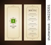 restaurant or cafe menu vector... | Shutterstock .eps vector #146225201