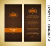 restaurant or cafe menu vector... | Shutterstock .eps vector #146225264