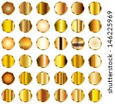 set of round gold gradients... | Shutterstock . vector #146225969