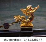 Close Up Detail Of A Golden...