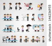 business icons set   isolated... | Shutterstock .eps vector #146236955