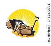 treasure chest logo.  treasure... | Shutterstock .eps vector #1462373171