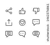 social media icons set vector | Shutterstock .eps vector #1462376861