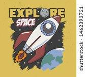 trendy design. explore space...   Shutterstock .eps vector #1462393721