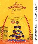 illustration of janmashtami ...   Shutterstock .eps vector #1462401374