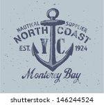 nautical graphic   vector print ... | Shutterstock .eps vector #146244524