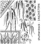 wrap fabric texture  floral... | Shutterstock . vector #1462457594